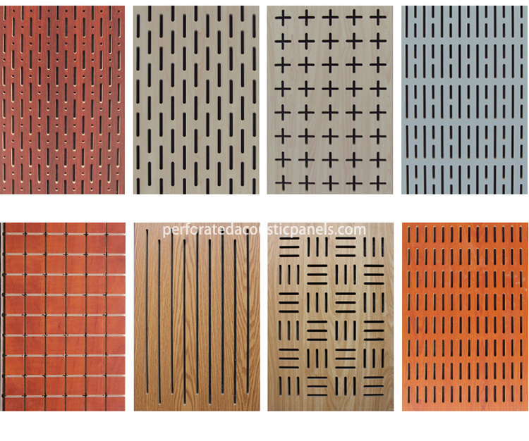 Pine Wood Panels Customize Perforated Acoustic Panels