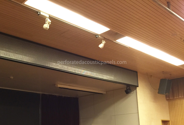 Timber Slat Ceiling 2440 X 128 Mm Perforated Acoustic Panels