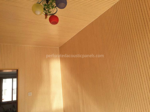 Wood Slat Ceiling Perforated Acoustic