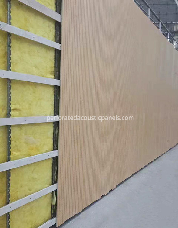 Linear Wooden Acoustic Panels Factory Wood Sound Absorption Timber Lining Board for Wall