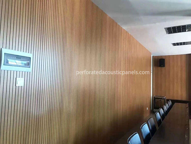 Grooved Acoustic And Wood Wall Panel Acoustic Panel With Grooves Groove Wooden Slats