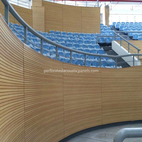 Grooved Acoustic Panel Wooden Acoustic Perforation Panels Acoustic MDF Panels