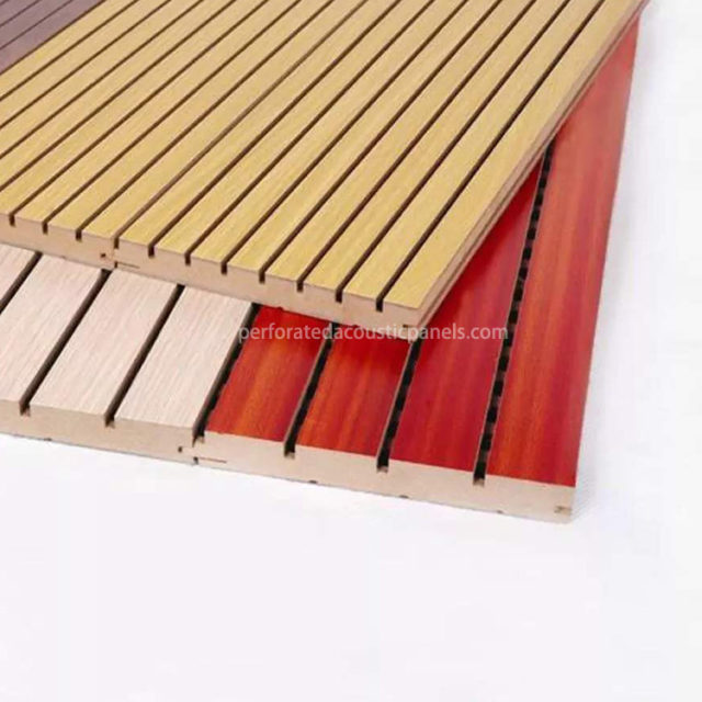 Grooved Acoustic Wood Panels Manufacturer Grooving Acoustic Panels MDF Grooved Board