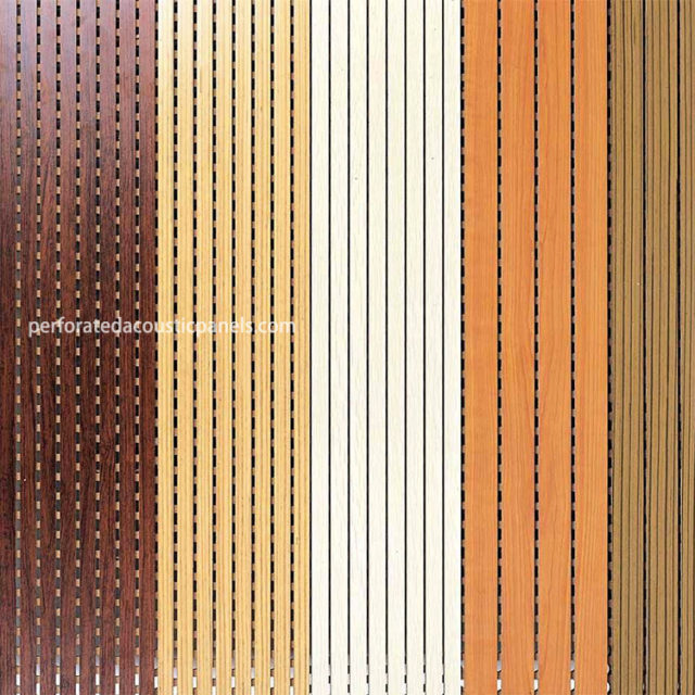 Linear Acoustic Panels Grooved Fire Proof MDF Panel Linear Wood Ceiling Panels
