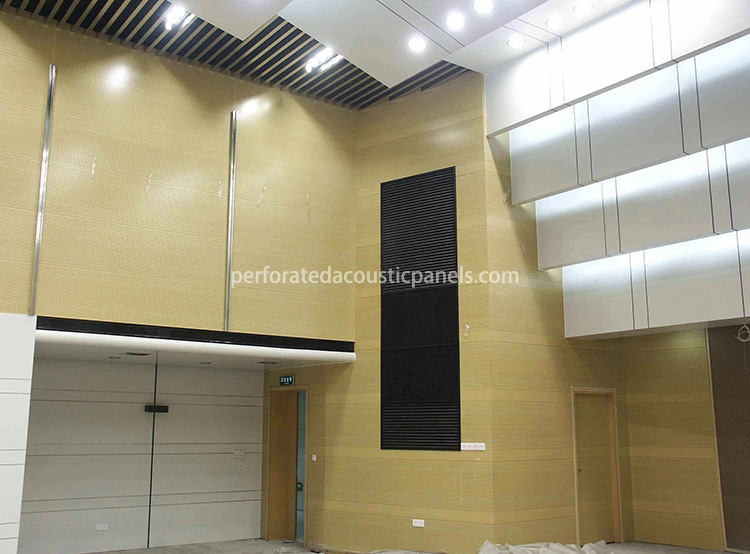 Micro Perforated Wooden Acoustic Panels Micro-Perforated Wood Veneer Panels Microperforated Panel