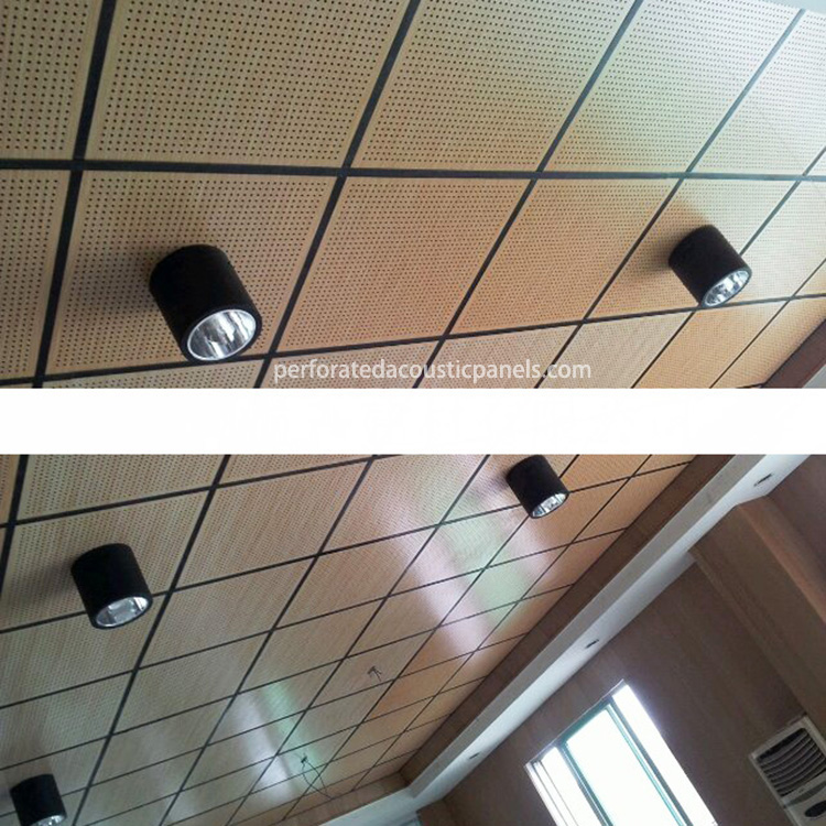 Perforated Ceiling Panels Suppliers Wooden Acoustical Ceiling Panel Acoustic Wood Ceiling Tiles